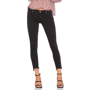 Paige black verdugo ankle raw hem step jeans 27